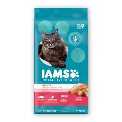 IAMS™ PROACTIVE HEALTH™ ADULT INDOOR WEIGHT & HAIRBALL CARE WITH SALMON