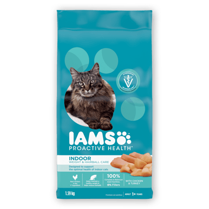 IAMS™ PROACTIVE HEALTH™ ADULT INDOOR WEIGHT & HAIRBALL CARE WITH CHICKEN & TURKEY